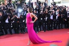 Isabeli Fontana bij de première voor stock foto's