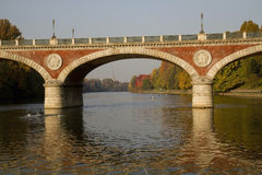 Isabella Bridge a Torino Italia Fotografia Stock Libera da Diritti
