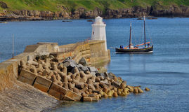 Isabella Fortuna going past Wick Lighthouse Royalty Free Stock Photo