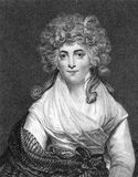 Isabella Ingram-Seymour-Conway. Marchioness of Hertford (1759-1834) on engraving from the 1800s. English courtier  and mistress of King George IV when he was Royalty Free Stock Images