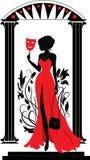isabelle graficzne serie silhouette kobiety Fotografia Stock