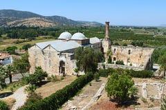 Isabey清真寺在Selcuk,土耳其 库存图片
