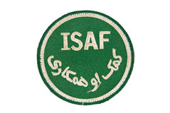 ISAF insignia patch NATO Afghanistan. ISAF insignia patch fron NATO mission i Afghanistan stock illustration