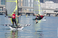 ISAF Miami - mellan Races Royaltyfria Bilder