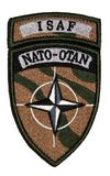 ISAF NATO patch Stock Photography
