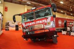 ISAF Security fair. ISTANBUL, TURKEY - SEPTEMBER 12, 2015: Fire Truck in ISAF Security fair in Istanbul Fair Center Stock Photos