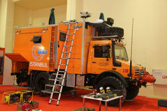 ISAF Security fair. ISTANBUL, TURKEY - SEPTEMBER 12, 2015: Search and rescue vehicle in ISAF Security fair in Istanbul Fair Center Royalty Free Stock Photos