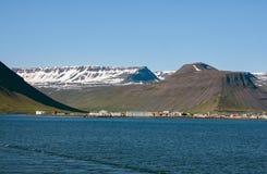 Isafjördur, Island. Ísafjörður at the Skutulsfjörður, Westfjords, Iceland Stock Photography