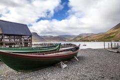 Isafjordur-αλιεύω-βάρκα Στοκ Εικόνα
