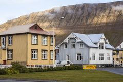 Isafjordur beautiful town in west fjords, Iceland. Isafjordur beautiful town in west fjords in Iceland royalty free stock photo