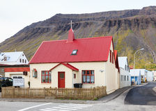 Isafjordur Chapel Stock Photos