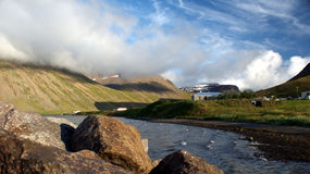 Isafjordur. Is a small village on westfjords in Iceland Stock Image