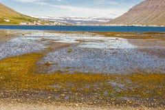 Isafjordur town - Iceland. Stock Photo