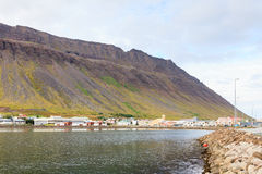 Isafjordur Waterfront Royalty Free Stock Images