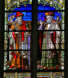 Isaiah and Jeremiah - Stained Glass. Stained Glass window depicting the Old Testament prophets Isaiah and Jeremiah, in the Cathedral of Saint Rumbold in Mechelen Stock Photos