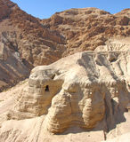 Isaiah Scroll Cave. Cave where the famous Isaiah scroll was found in Qumran, Israel Royalty Free Stock Image