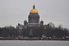 Isakiyevsky cathedral in winter St. Petersburg, Russia. Isakiyevsky cathedral in St. Petersburg, Russia Royalty Free Stock Images