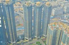 Isaland di Hong Kong di vista laterale di Kowloon a ICC Fotografia Stock Libera da Diritti