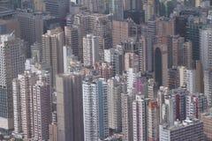 Isaland di Hong Kong di vista laterale di Kowloon a ICC Immagini Stock