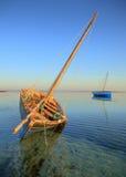 小船单桅三角帆船梦想isalnd假期 图库摄影