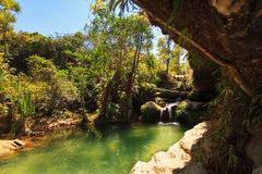Isalo oasis. Beautiful oasis 'La Piscine Naturelle' in Isalo national park in Madagascar stock photos