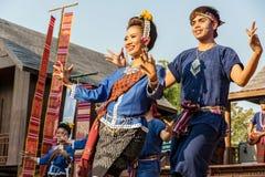 Isan舞蹈 免版税库存照片