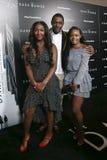 Isan Elba, Idris Elba. NEW YORK-JUL 31: Isan Elba L and Idris Elba attend `The Dark Tower` special screening at the Museum of Modern Art on July 31, 2017 in New royalty free stock photos