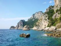 Isanl av Capri Arkivfoto