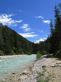 Isar. Small river isar at the beginning Royalty Free Stock Image