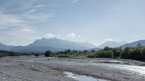 Isar and Alps Stock Photos