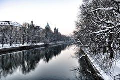 Isar-Fluss Stockbild