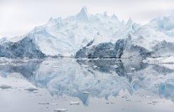 Isar och isberg av polara regioner av jord Arkivfoto