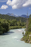 Isar river bed in Krün Royalty Free Stock Photography