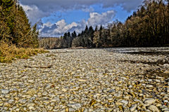 Isar River HDR Royalty Free Stock Image