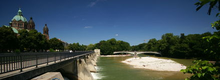 Isar River Munich Royalty Free Stock Photos