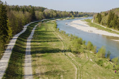 Isar river Stock Photography