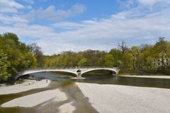 Isar river Munich Stock Images