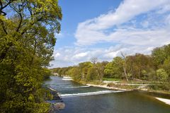 Isar river Munich Royalty Free Stock Photography