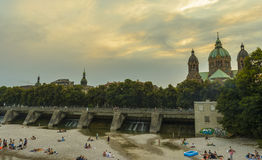 Isar river, Munich, Germany Royalty Free Stock Image