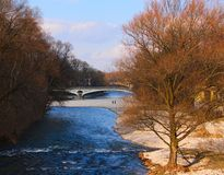 The Isar River, Munich. In the spring Royalty Free Stock Images