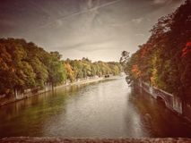 Isar rivier royalty-vrije stock foto
