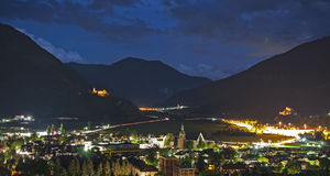 Isarco valley by night Stock Photos