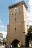Isartor gate tower from historic Munich Royalty Free Stock Photo