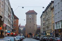 Isartor port av Munich Arkivfoto