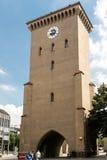 Isartor porttorn från historiska Munich Royaltyfri Foto