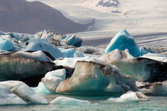 Isberg av den Joekulsarlon fjärden Arkivbilder