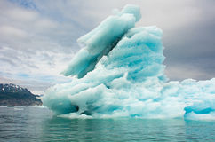 Isberg Columbia glaciär, Columbia fjärd, Valdez, Alaska Royaltyfria Bilder