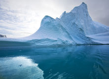 Isberg - Grönland Arkivbilder