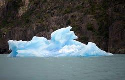 Isberg i Argentino Lake, Argentina arkivfoto