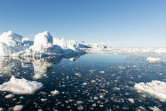 Isberg i Grönland Arkivfoto